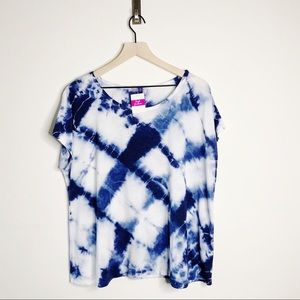 NWT FRESH PRODUCE Lattice Tie Dye Shirt OS